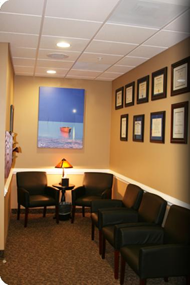 Chesapeake Center for Periodontics & Implant Dentistry waiting room